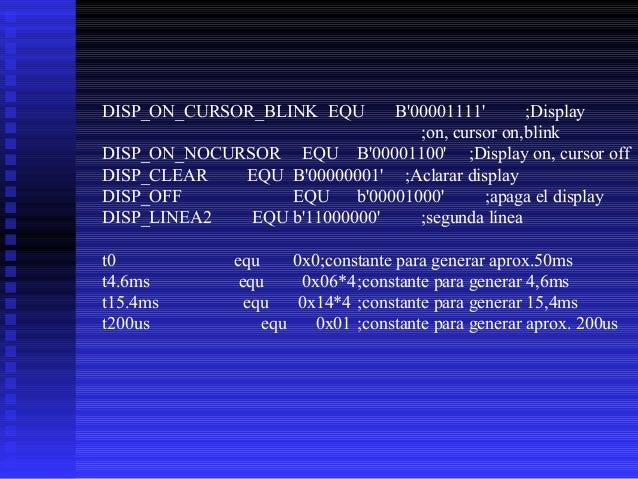 ;******************************************************* ;EnviaCarLCD - Envía un caracter a la pantalla LCD * ;Esta rutina...