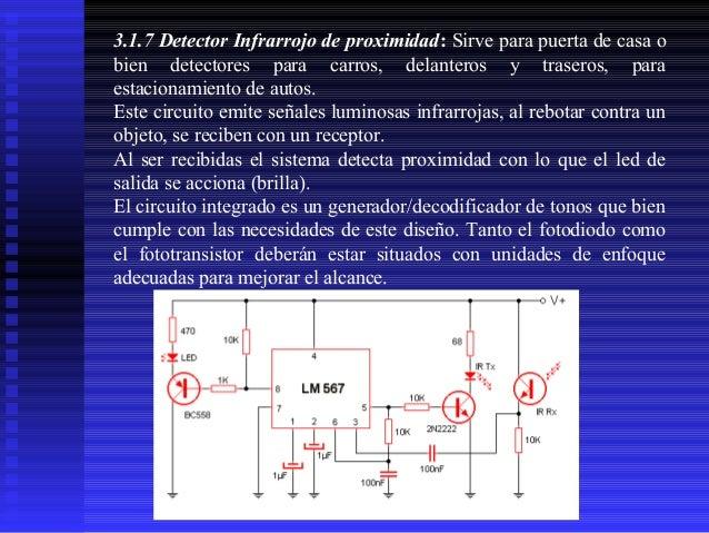 3.1.7 Detector Infrarrojo de proximidad: Sirve para puerta de casa o bien detectores para carros, delanteros y traseros, p...