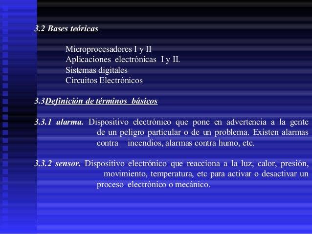 3.2 Bases teóricas Microprocesadores I y II Aplicaciones electrónicas I y II. Sistemas digitales Circuitos Electrónicos 3....