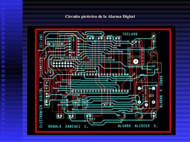 Circuito pictórico de la Alarma Digital
