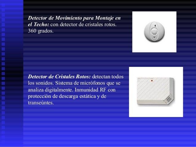 Detector de Movimiento para Montaje en el Techo: con detector de cristales rotos. 360 grados.  Detector de Cristales Rotos...