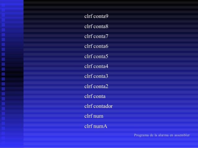 movlw b'00000001' call EnviaCmdLCD incf contador call inicio_LCD ;dirección de la fila movlw h'81' ;dirección cursor prime...