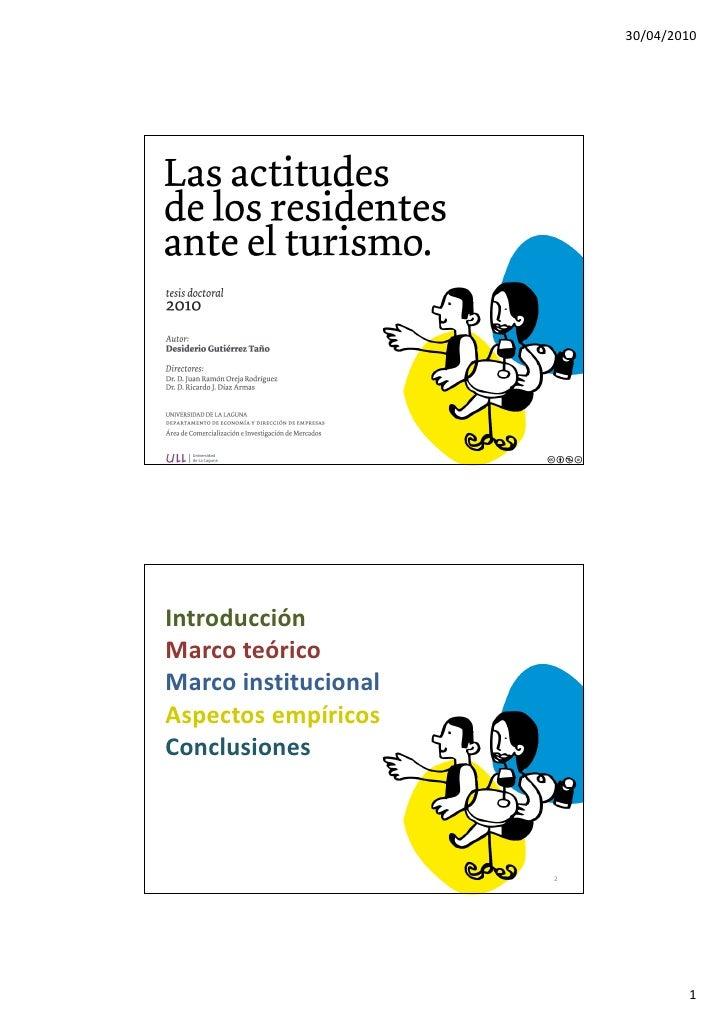 30/04/2010     Introducción Marco teórico Marco institucional Aspectos empíricos Conclusiones                          2  ...