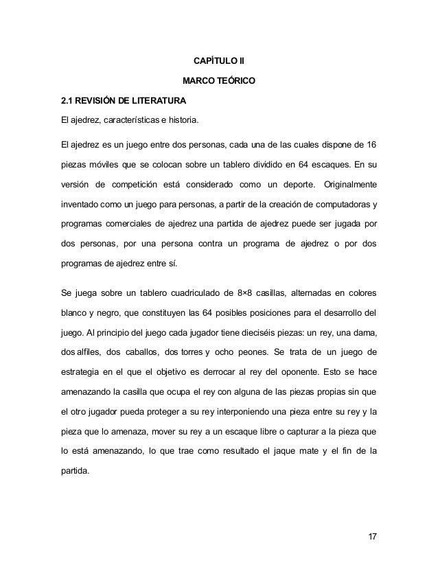 TESIS DE APRENDIZAJE DEL AJEDREZ