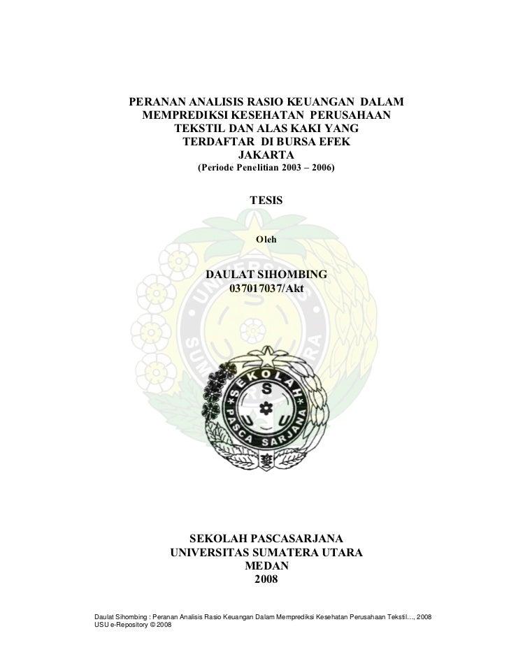 Contoh Soal Dan Materi Pelajaran 2 Contoh Tesis Manajemen Keuangan