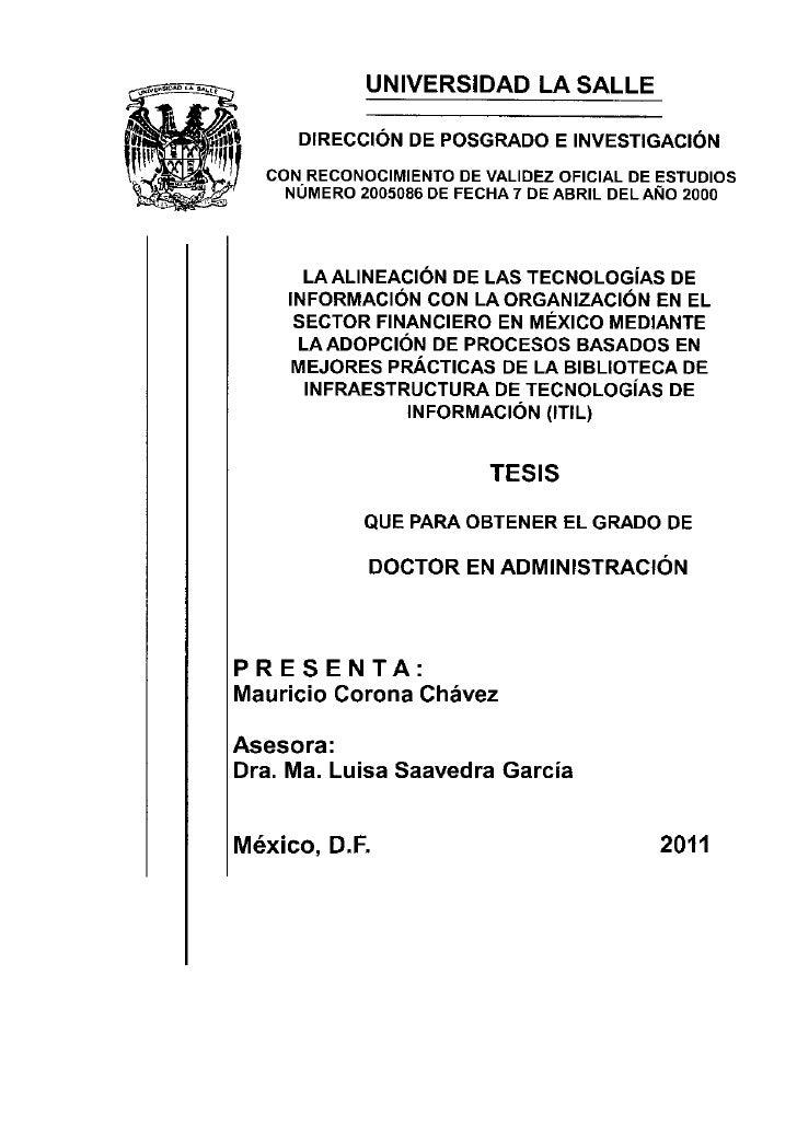 UNIVERSIDAD LA SALLE     DIRECCIÓN DE POSGRADO E INVESTIGACIÓN  CON RECONOCIMIENTO DE VALIDEZ OFICIAL DE ESTUDIOS    NÚMER...