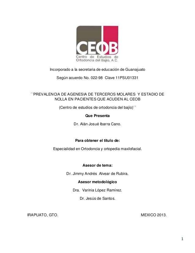 1 Incorporado a la secretaria de educación de Guanajuato Según acuerdo No. 022-98 Clave 11PSU01331 ´´PREVALENCIA DE AGENES...