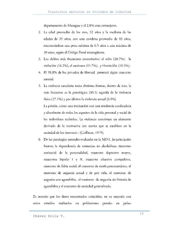 Trastornos mentales en Privados de Libertad                                                     10Chávez Zoila T.
