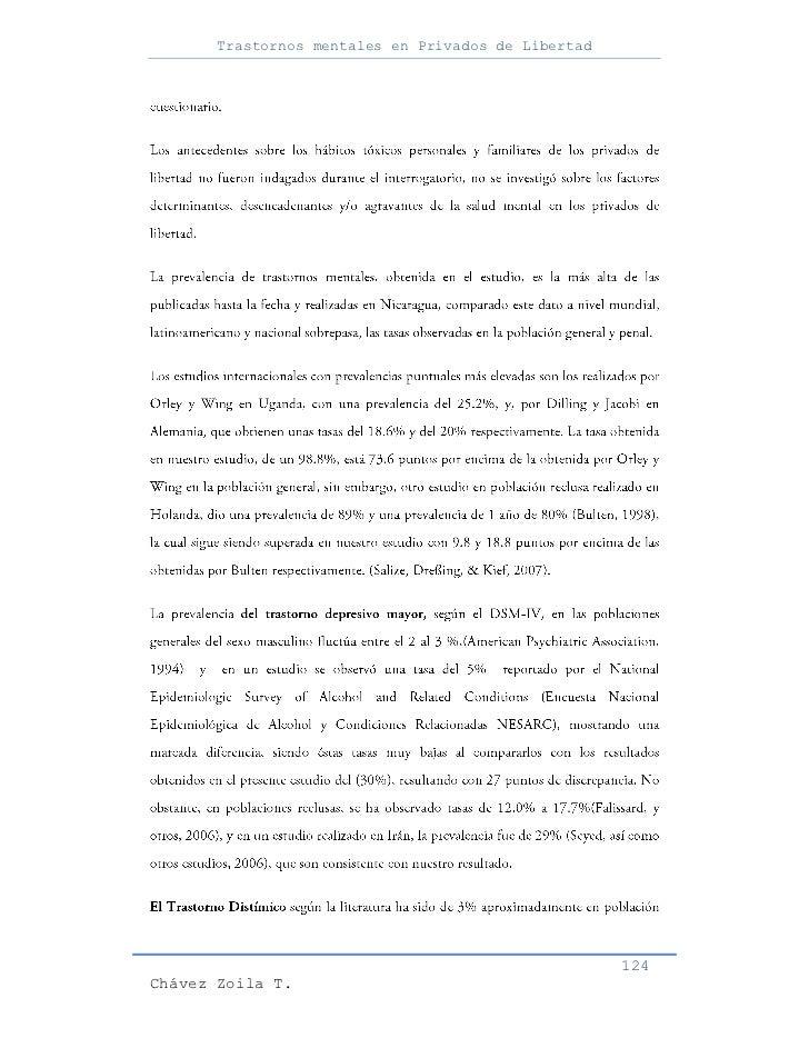 Trastornos mentales en Privados de Libertad                                                     124Chávez Zoila T.