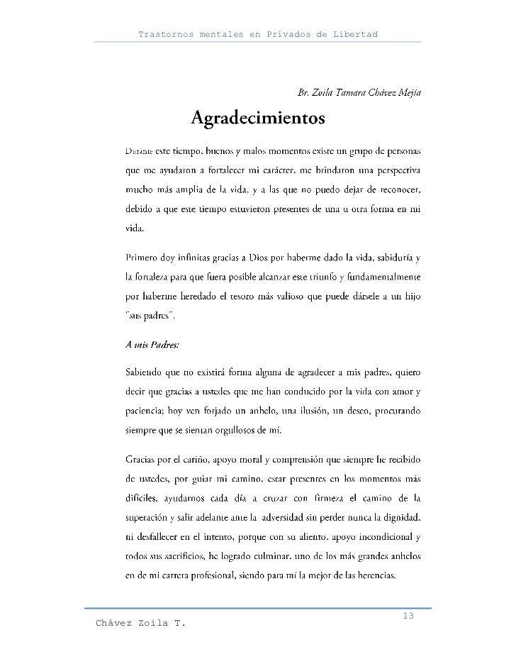 Trastornos mentales en Privados de Libertad                                                     13Chávez Zoila T.