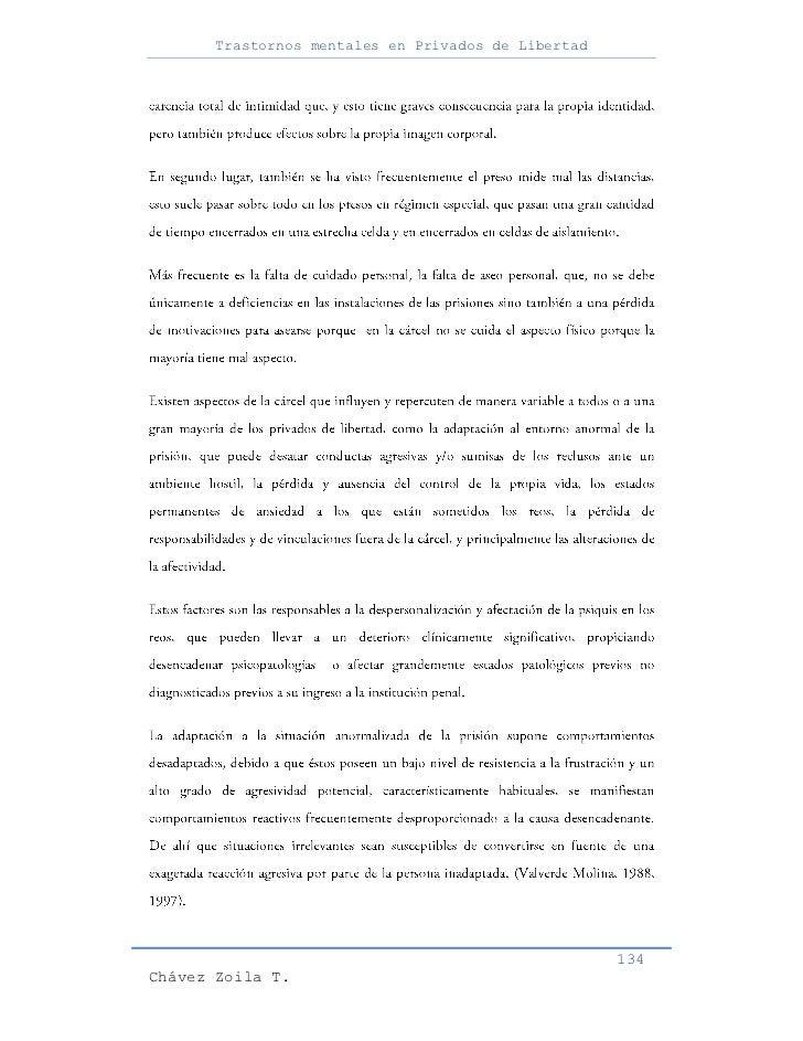 Trastornos mentales en Privados de Libertad                                                     134Chávez Zoila T.