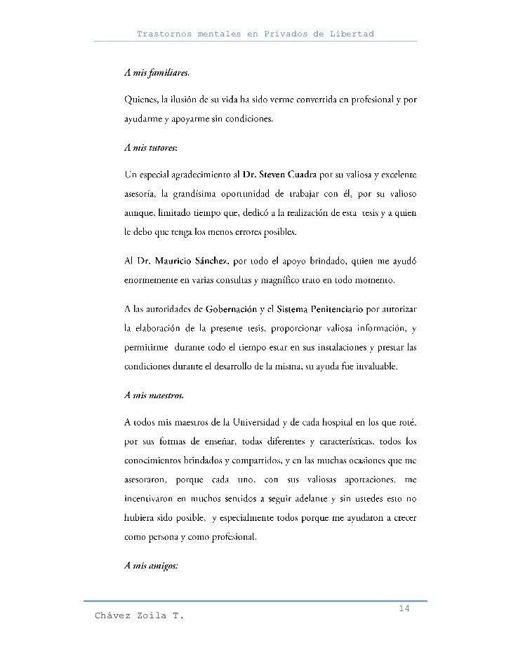 Trastornos mentales en Privados de Libertad                                                     14Chávez Zoila T.