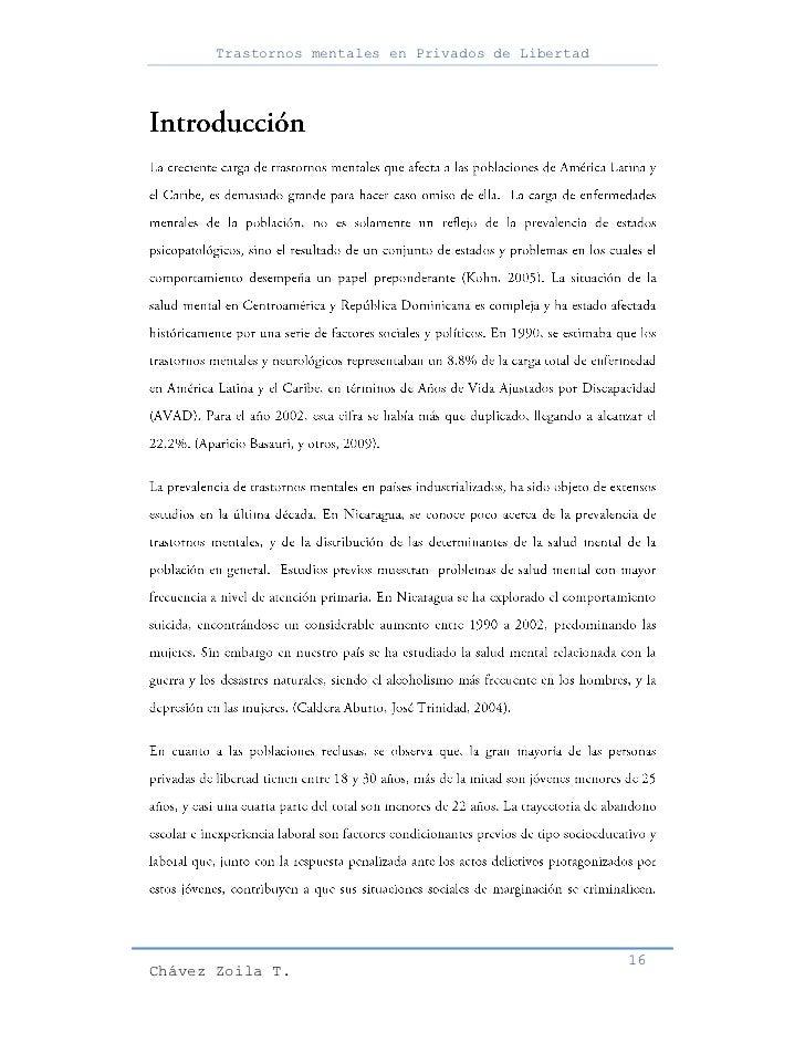 Trastornos mentales en Privados de Libertad                                                     16Chávez Zoila T.