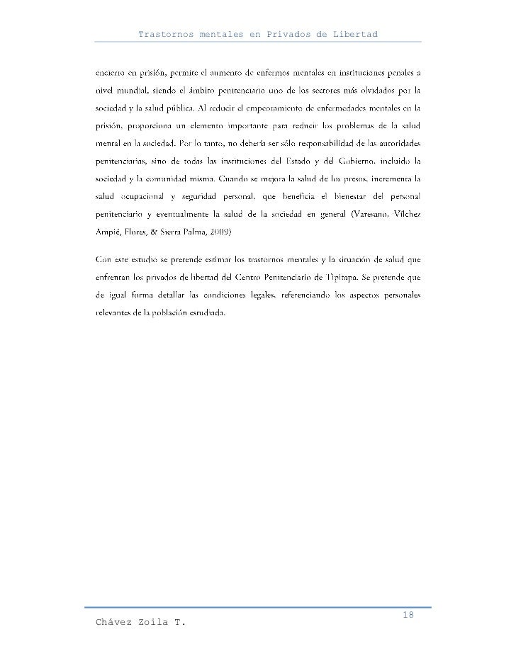 Trastornos mentales en Privados de Libertad                                                     18Chávez Zoila T.