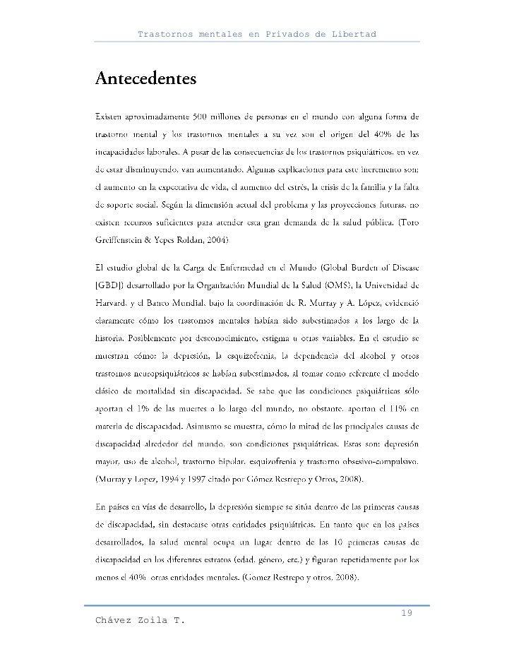 Trastornos mentales en Privados de Libertad                                                     19Chávez Zoila T.