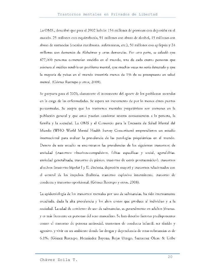 Trastornos mentales en Privados de Libertad                                                     20Chávez Zoila T.