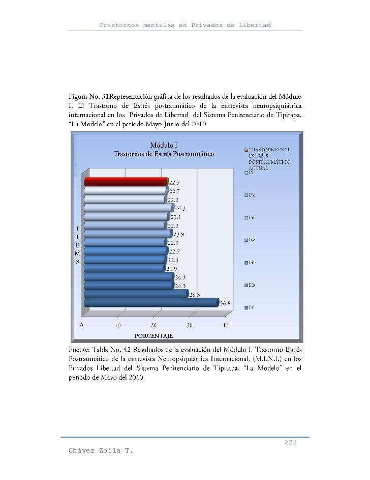 Trastornos mentales en Privados de Libertad                                                     223Chávez Zoila T.
