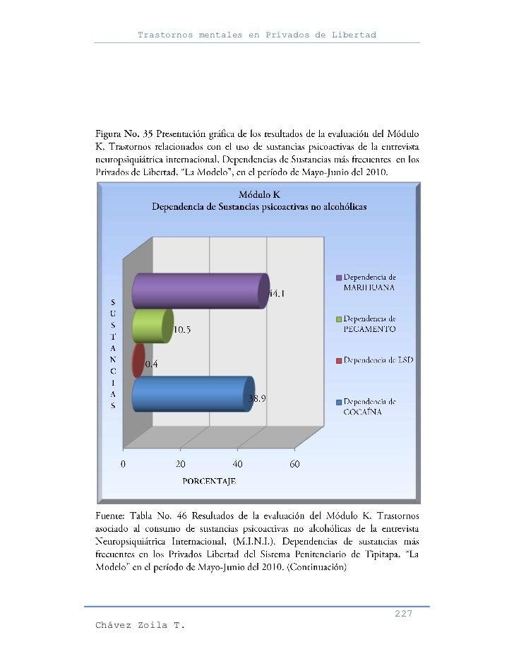 Trastornos mentales en Privados de Libertad                                                     227Chávez Zoila T.