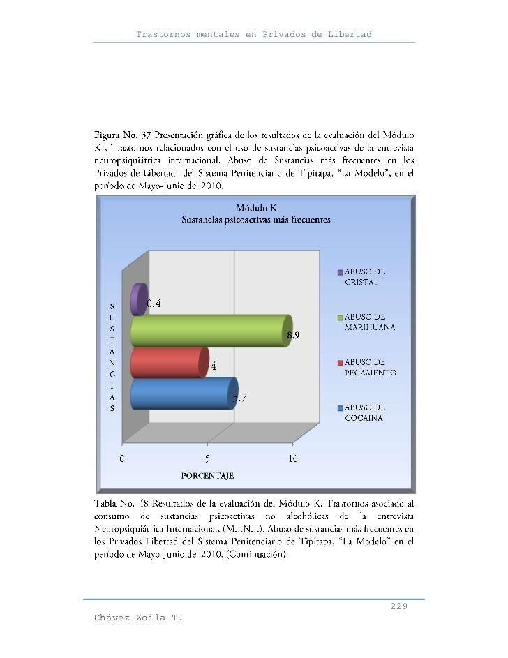 Trastornos mentales en Privados de Libertad                                                     229Chávez Zoila T.
