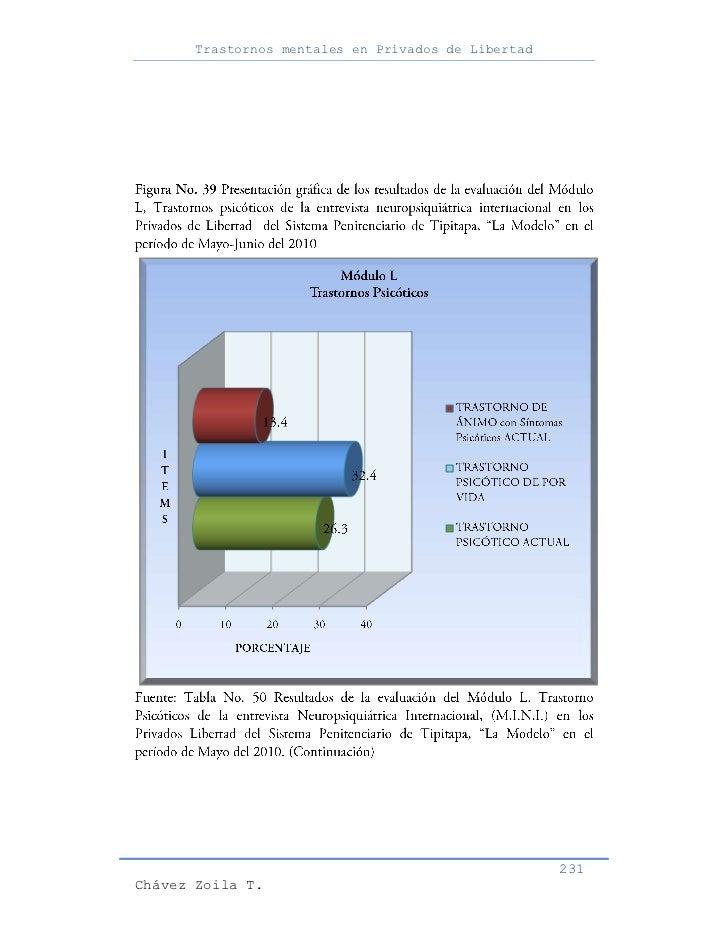 Trastornos mentales en Privados de Libertad                                                     231Chávez Zoila T.