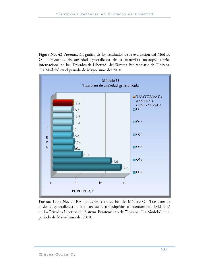 Trastornos mentales en Privados de Libertad                                                     234Chávez Zoila T.