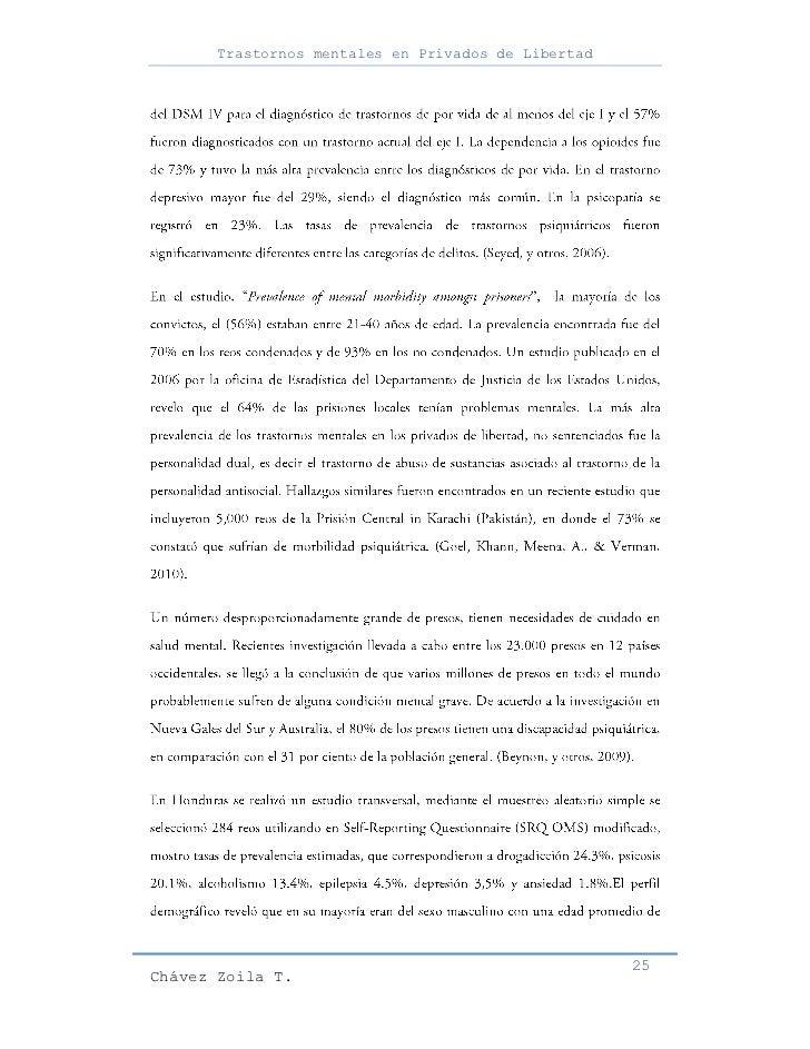 Trastornos mentales en Privados de Libertad                                                     25Chávez Zoila T.