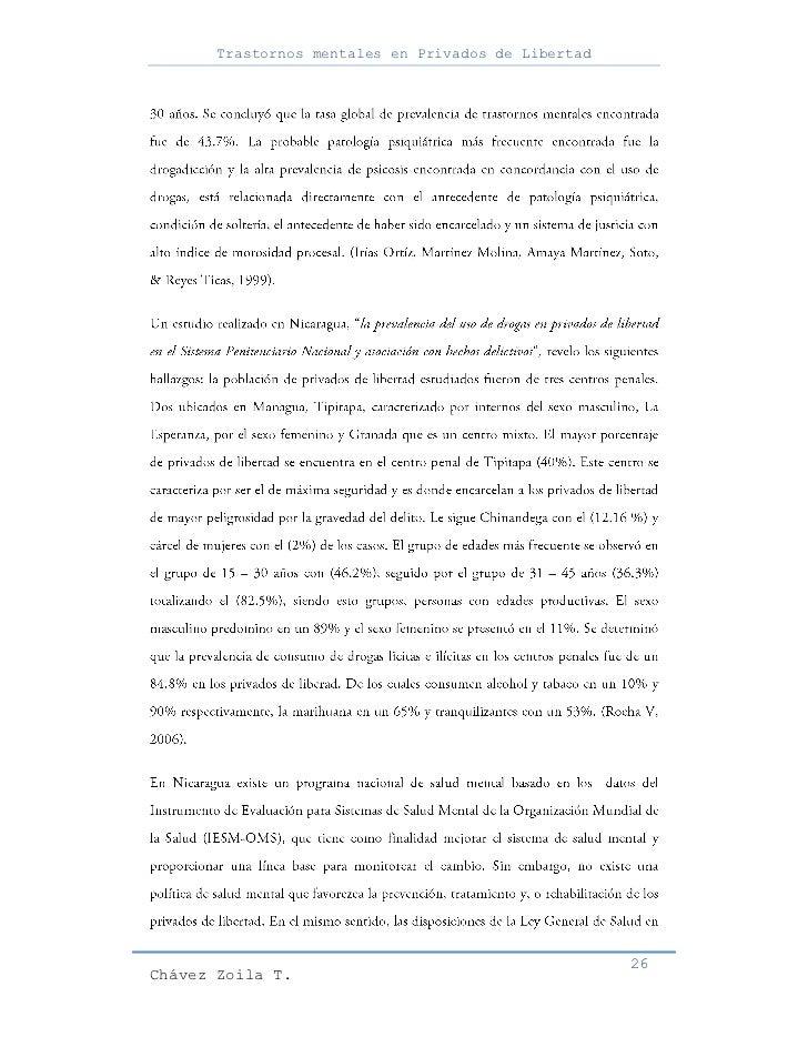 Trastornos mentales en Privados de Libertad                                                     26Chávez Zoila T.