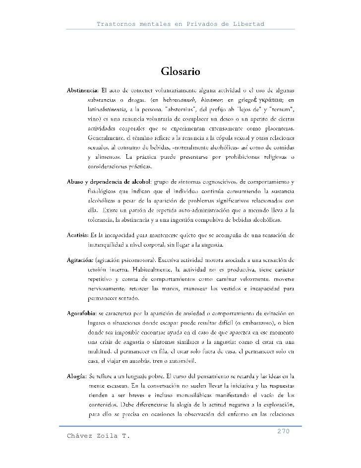 Trastornos mentales en Privados de Libertad                                               ἐ γκράτεια                      ...
