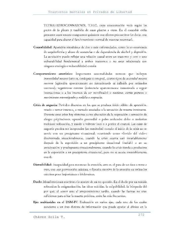 Trastornos mentales en Privados de Libertad                                                     272Chávez Zoila T.