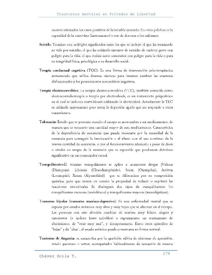 Trastornos mentales en Privados de Libertad                                                     278Chávez Zoila T.