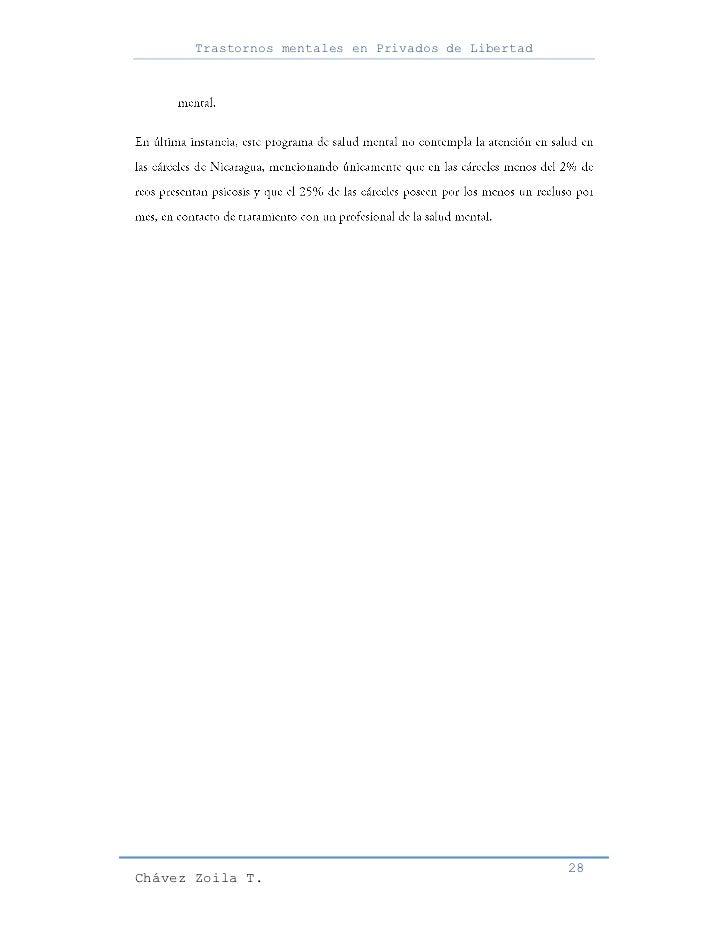 Trastornos mentales en Privados de Libertad                                                     28Chávez Zoila T.