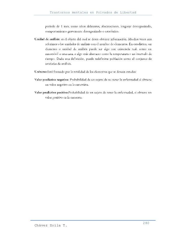 Trastornos mentales en Privados de Libertad                                                     280Chávez Zoila T.