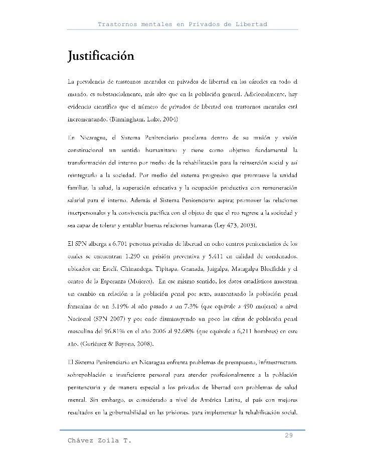 Trastornos mentales en Privados de Libertad                                                     29Chávez Zoila T.