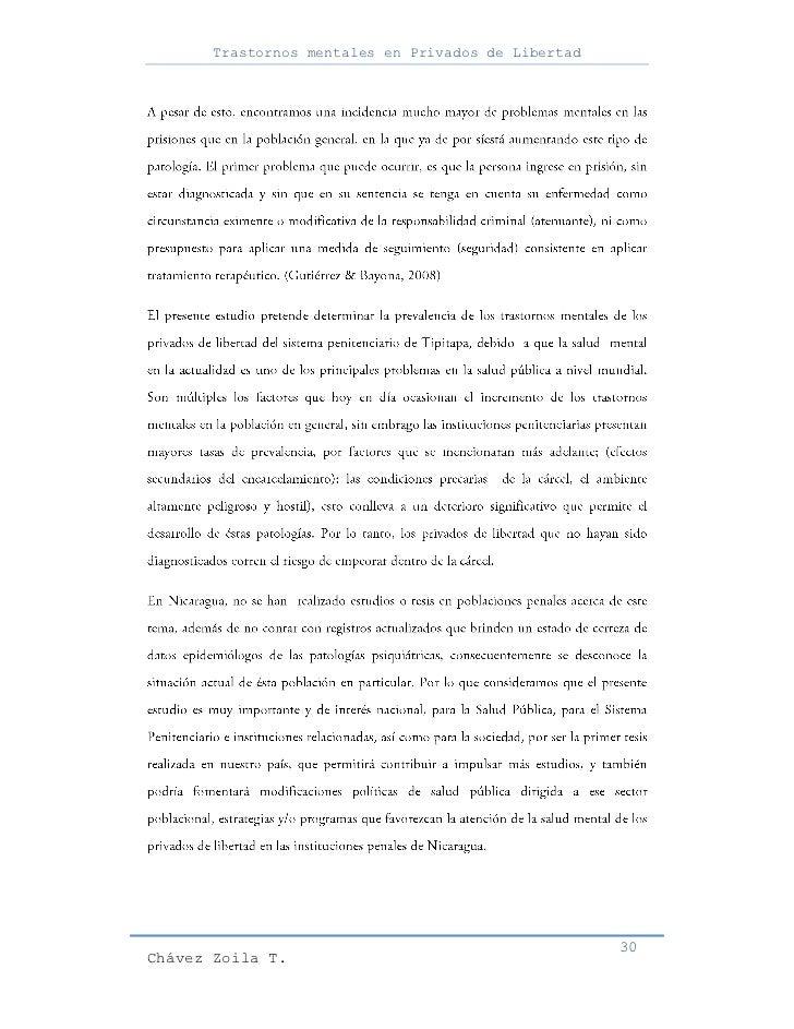 Trastornos mentales en Privados de Libertad                                                     30Chávez Zoila T.