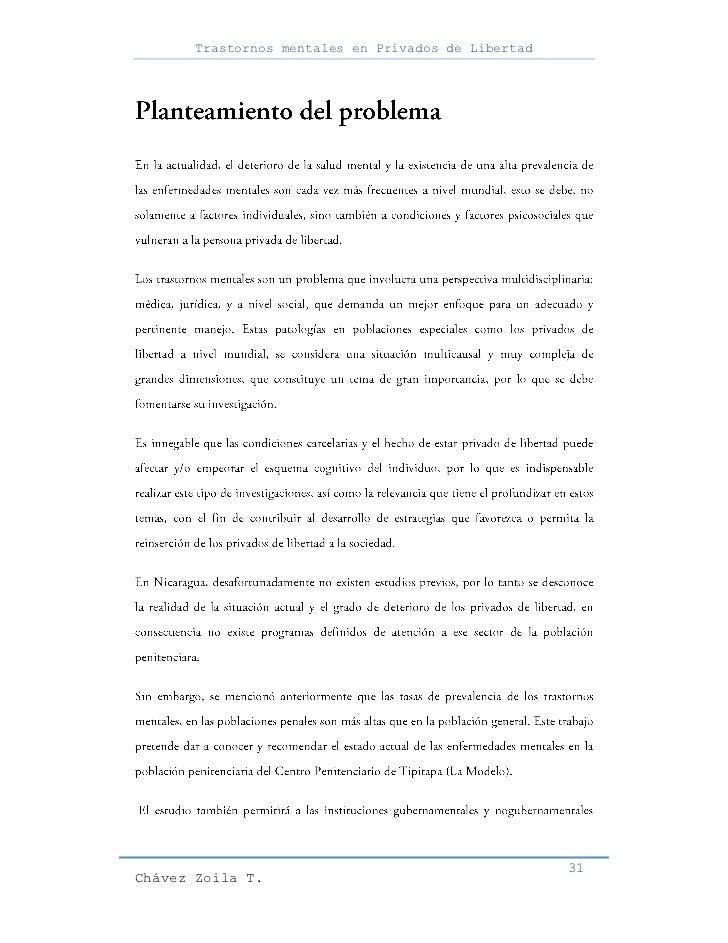 Trastornos mentales en Privados de Libertad                                                     31Chávez Zoila T.