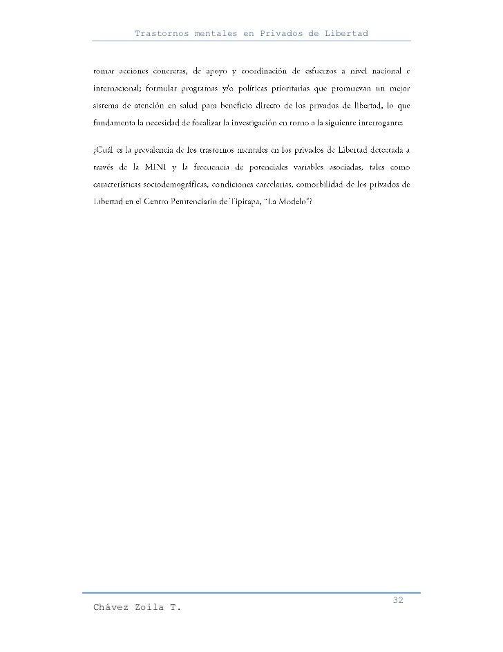 Trastornos mentales en Privados de Libertad                                                     32Chávez Zoila T.