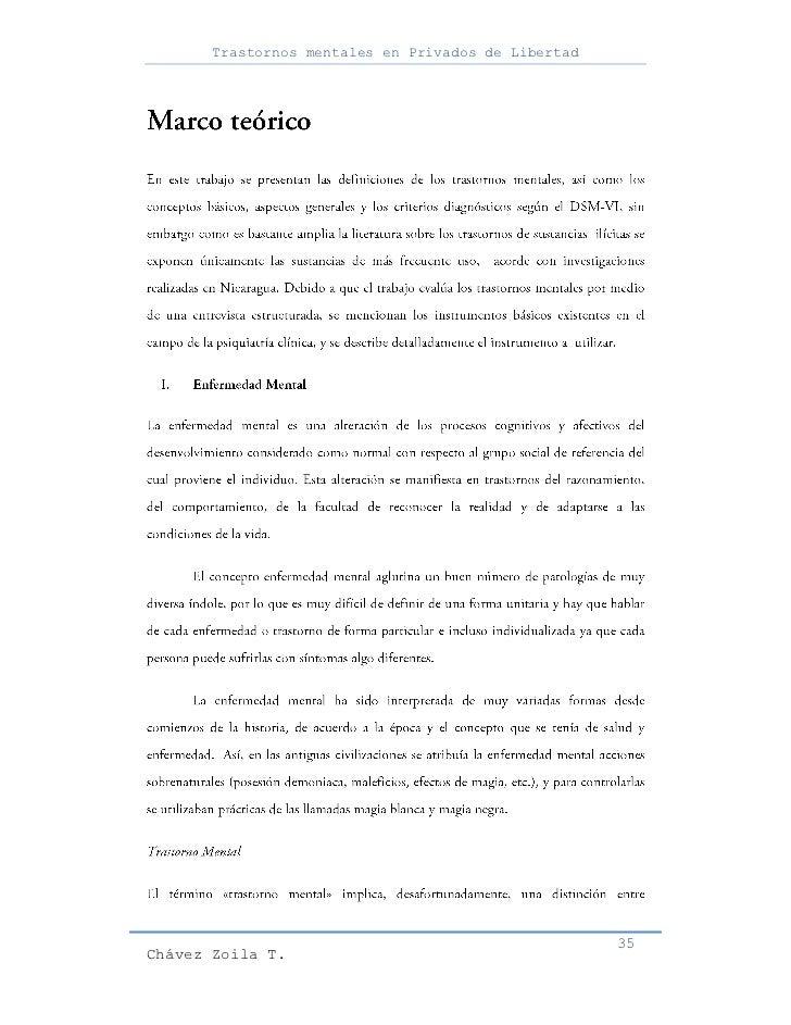 Trastornos mentales en Privados de Libertad                                                     35Chávez Zoila T.