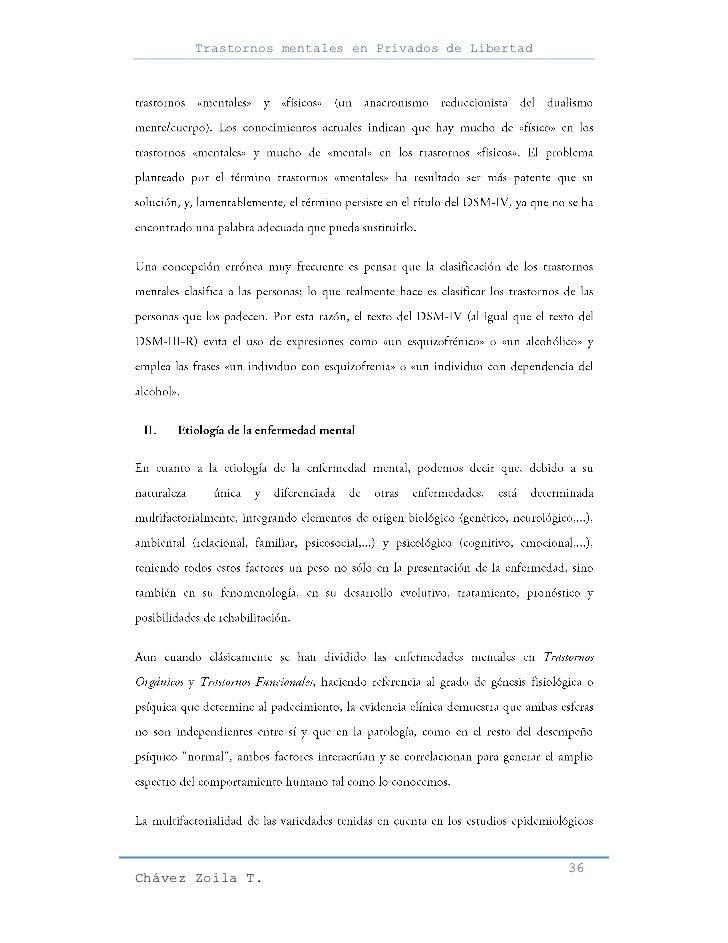 Trastornos mentales en Privados de Libertad                                                     36Chávez Zoila T.