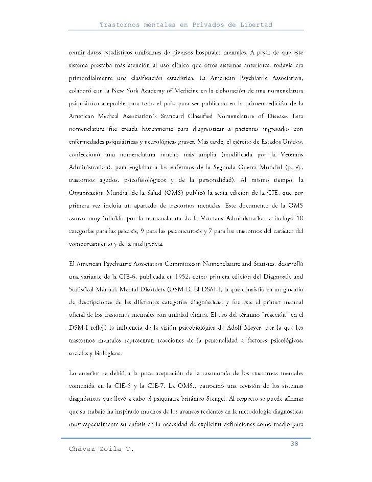 Trastornos mentales en Privados de Libertad                                                     38Chávez Zoila T.