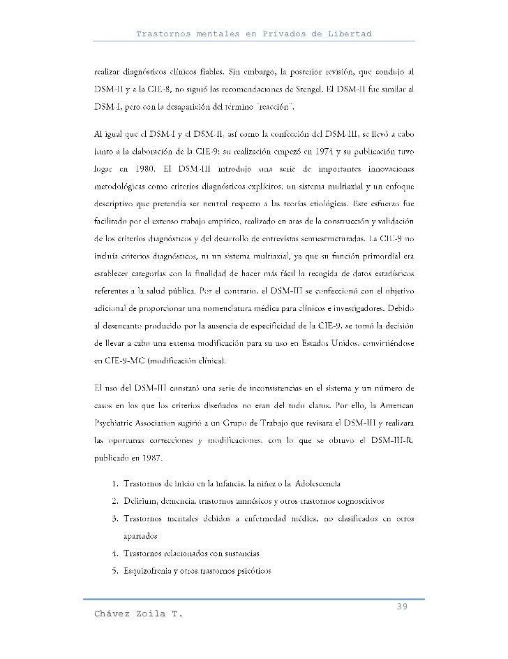 Trastornos mentales en Privados de Libertad                                                     39Chávez Zoila T.