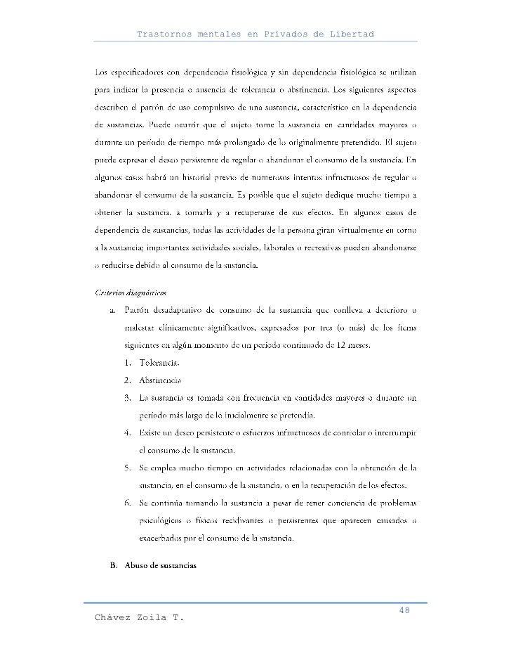 Trastornos mentales en Privados de Libertad                                                     48Chávez Zoila T.