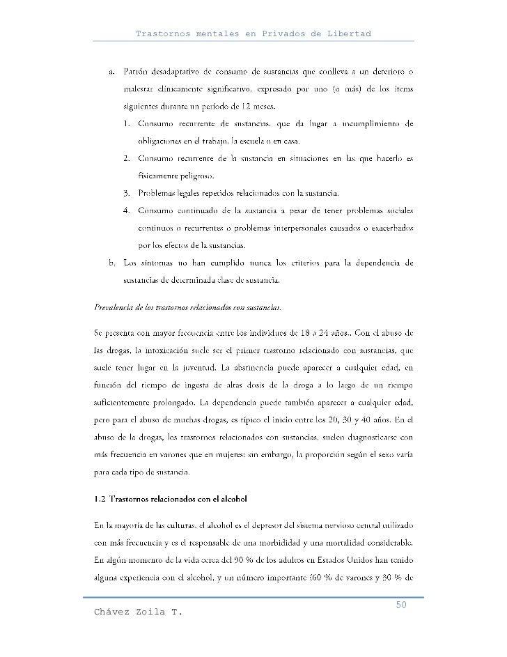 Trastornos mentales en Privados de Libertad                                                     50Chávez Zoila T.