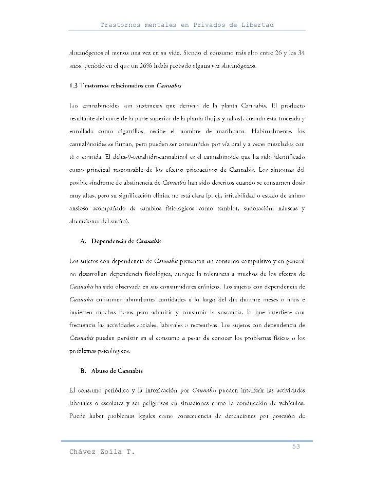 Trastornos mentales en Privados de Libertad                                                     53Chávez Zoila T.