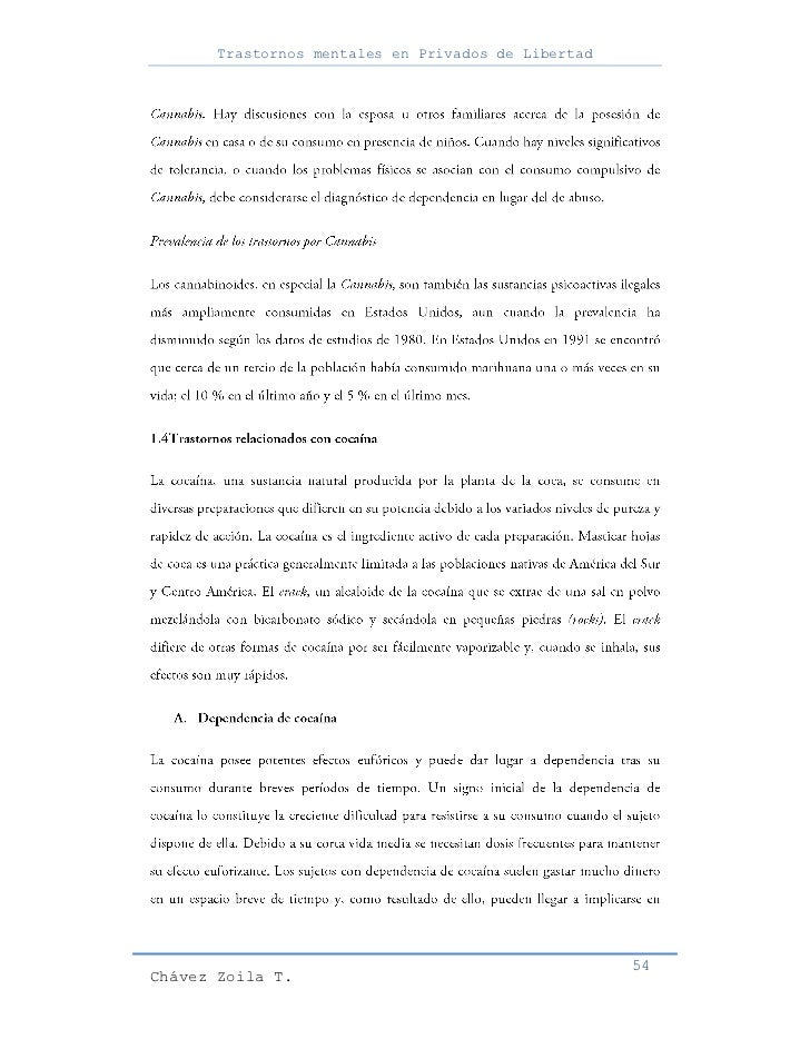 Trastornos mentales en Privados de Libertad                                                     54Chávez Zoila T.