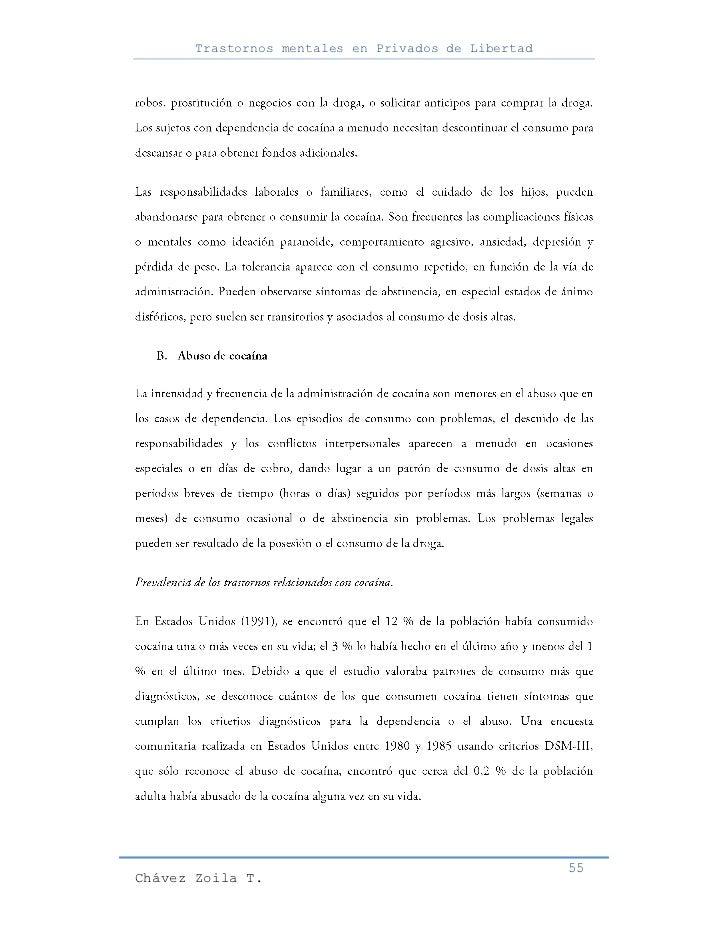 Trastornos mentales en Privados de Libertad                                                     55Chávez Zoila T.