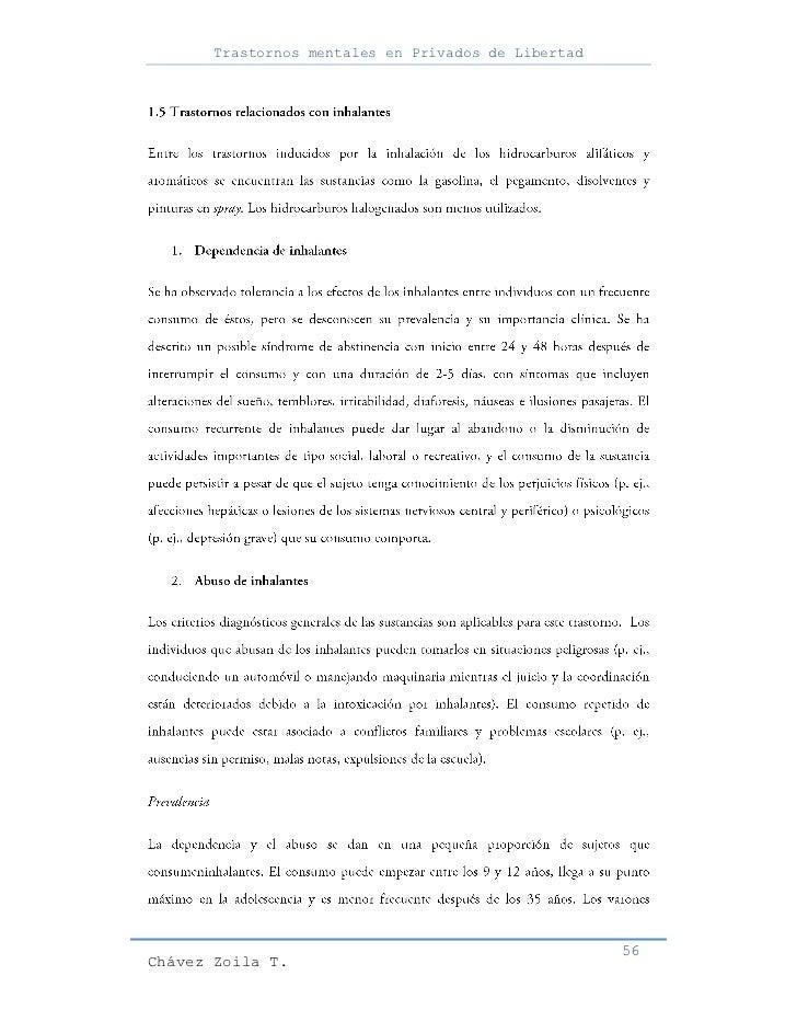 Trastornos mentales en Privados de Libertad                                                     56Chávez Zoila T.