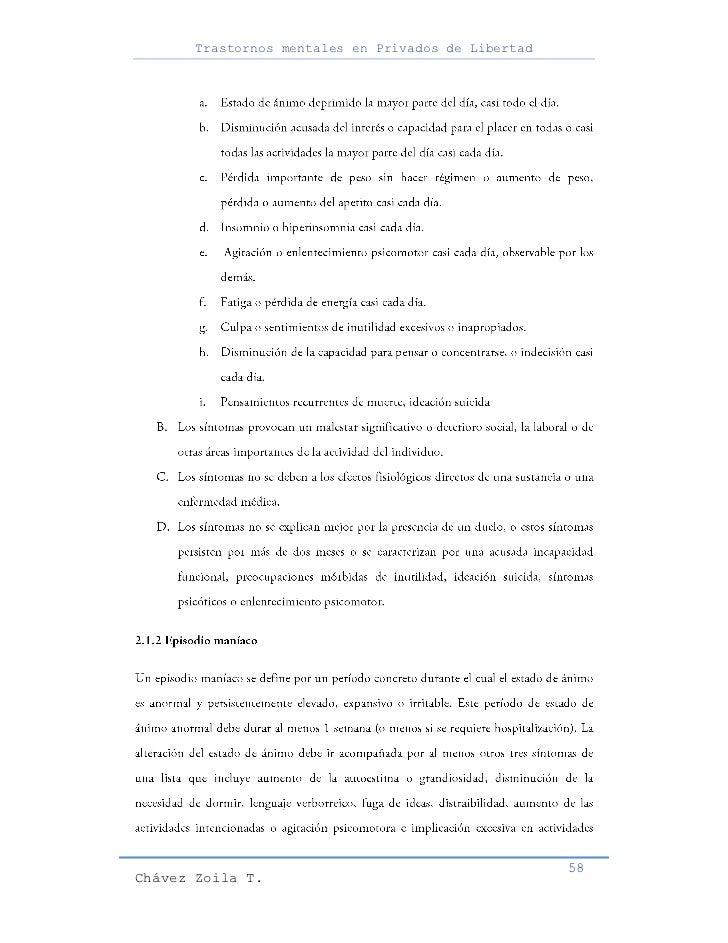 Trastornos mentales en Privados de Libertad                                                     58Chávez Zoila T.