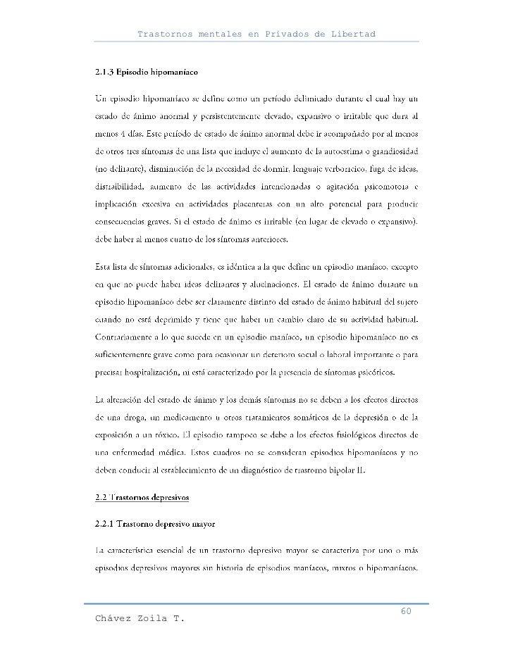 Trastornos mentales en Privados de Libertad                                                     60Chávez Zoila T.