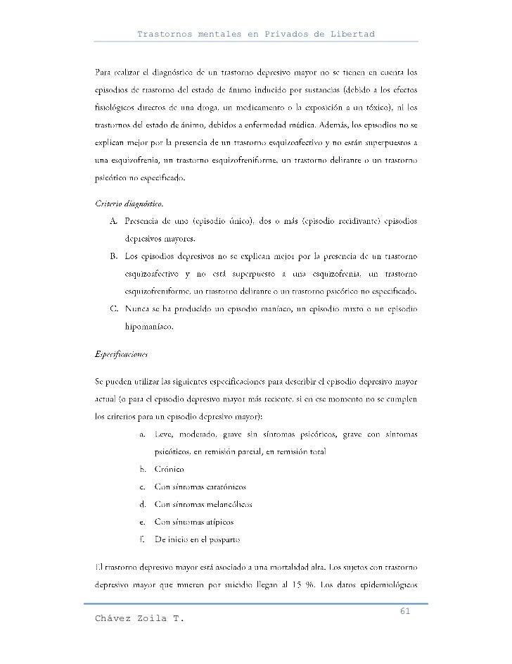 Trastornos mentales en Privados de Libertad                                                     61Chávez Zoila T.