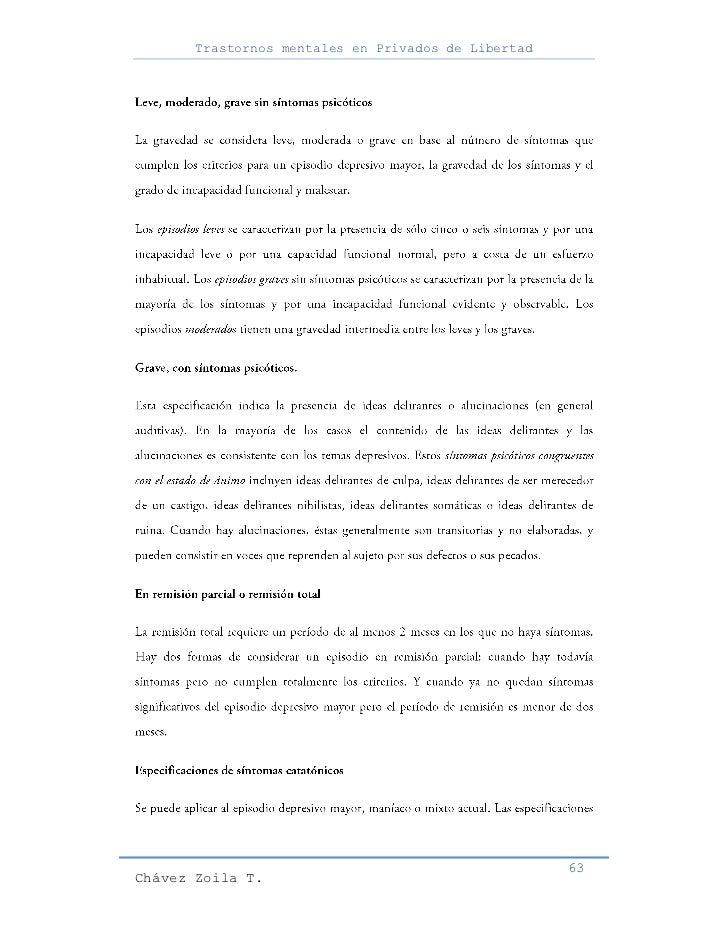 Trastornos mentales en Privados de Libertad                                                     63Chávez Zoila T.